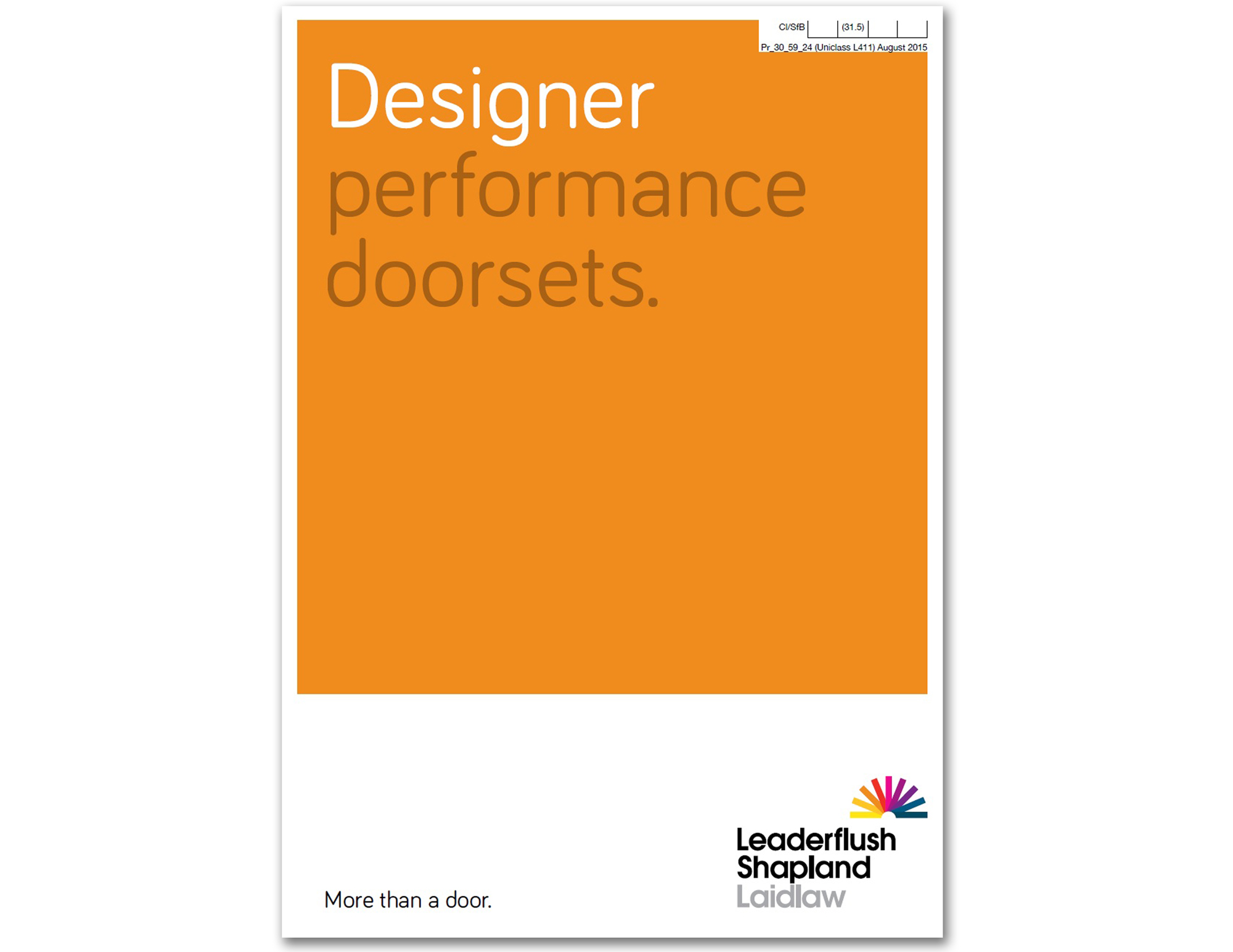Designer Performance Doorsets
